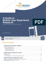 Guide to Mobile UX Research