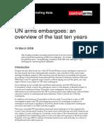 UN Arms Embargoes