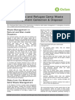 Domestic and Refugee Camp Waste Management Collection and Disposal