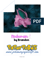 Nidoran M A4 Lineless