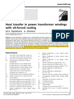 [2008]Heat Transfer in Power Transformer Windings With Oil-Forced Cooling