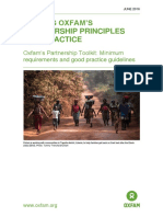 Putting Oxfam's Partnership Principles into Practice