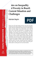 Notes on Inequality and Poverty in Brazil: Current Situation and Challenges