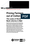 Pricing Farmers out of Cotton: The costs of World Bank reforms in Mali