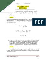 4 Ejemplos de Combinaciones.