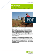 Righting Two Wrongs: Making a new global climate fund work for poor people