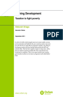 Owning Development: Taxation to fight poverty
