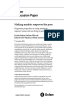 Making Markets Empower the Poor: Programme perspectives on using markets to empower women and men living in poverty