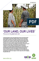 'Our Land, Our Lives': Time out on the global land rush