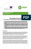 The Climate 'Fiscal Cliff': An evaluation of Fast Start Finance and lessons for the future