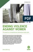 Ending Violence Against Women: The case for a comprehensive international action plan