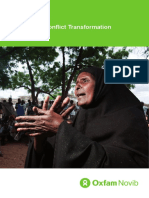 Achieving Conflict Transformation