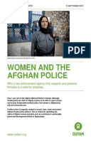 Women and the Afghan Police: Why a law enforcement agency that respects and protects females is crucial for progress