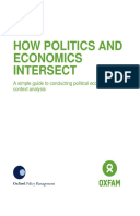 How Politics and Economics Intersect: A simple guide to conducting political economy and context analysis
