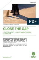 Close the Gap: How to eliminate violence against women beyond 2015