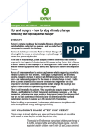 Hot and Hungry: How to stop climate change derailing the fight against hunger