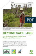 Beyond Safe Land: Why security of land tenure is crucial for the Philippines' post-Haiyan recovery