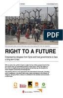 Right to a Future: Empowering refugees from Syria and host governments to face a long-term crisis