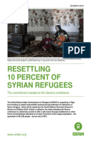 Resettling 10 Percent of Syrian Refugees: The commitment needed at the Geneva conference