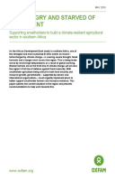 Hot, Hungry and Starved of Investment: Supporting smallholders to build a climate-resilient agricultural sector in southern Africa