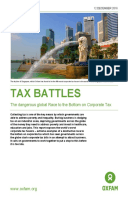 Tax Battles: The dangerous global race to the bottom on corporate tax