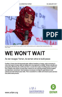 We Won't Wait: As war ravages Yemen, its women strive to build peace