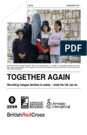 Together Again: Reuniting refugee families in safety – what the UK can do