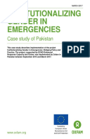 Institutionalizing Gender in Emergencies: Case study of Pakistan