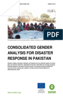 Consolidated Gender Analysis for Disaster Response in Pakistan