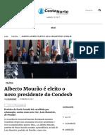 Alberto Mourão é Eleito o Novo Presidente Do Condesb_costa_norte