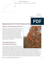 Department of Horticultural Sciences