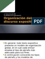 Modelos de Organización Del Texto Expositivo