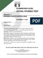 Nov 2009 Grade 5 Social Studies Test Book 2