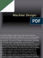MAChine Design (Lecture 1)