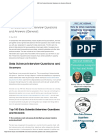 100 Data Science Interview Questions and Answers (General)