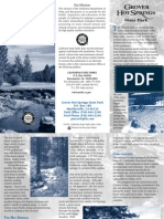 Grover Hot Springs State Park Brochure