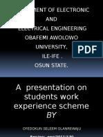 presentation on work experience