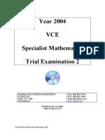 [Specialist] 2004 Kilbaha Exam 2