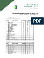 Inventaris Klinik Aura Medika Des 2016