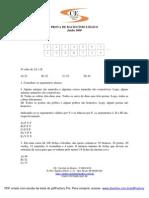 PROVA DE RACIOCÍNIO LÓGICO ANPAD jun 2008