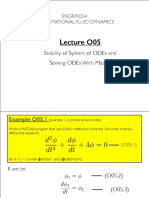 Stability of System of ODE's