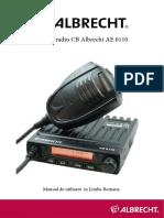 Manual Statie Radio Cb Albrecht Ae 6110
