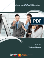 Master Assessor - Trainee Manual