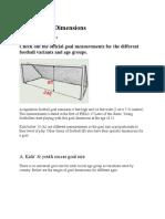 Soccer Goal Dimensions