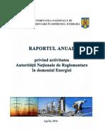 Raport ANRE 2015