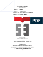 (ITTelkom PWT) Laporan Praktikum Elektronika Modul I - IV