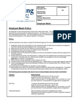 201 Employee Meal Policy February 2012