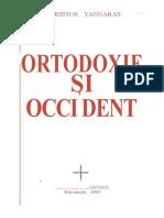 Christos Yannaras-Ortotodoxie Şi Occident -Editura Bizantină (1995)