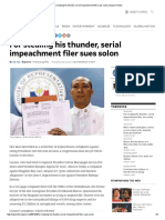 For Stealing His Thunder, Serial Impeachment Filer Sues Solon _ Inquirer News