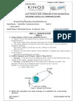 EC-6004 Satellite Communication Question Bank